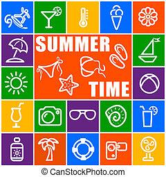 temps, été