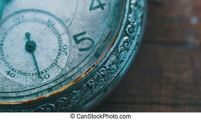 temps, aller, jeûne, vieux, horloge, montre, mécanisme, vendange