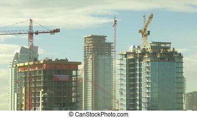 temps, bâtiment, défaillance, construction, 3