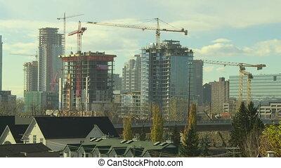 temps, bâtiment, défaillance, construction, 4