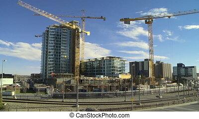 temps, bâtiment, défaillance, construction, 5