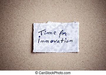 temps, background!, innovation