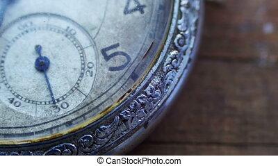 temps, closeup, aller, jeûne, horloge, poche, vendange