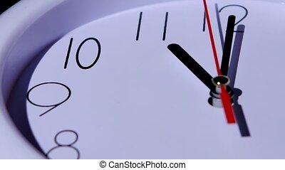 temps, closeup, business, horloge, fond, concept, blanc