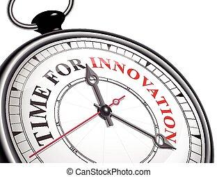 temps, concept, horloge, innovation