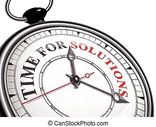 temps, concept, solutions, horloge