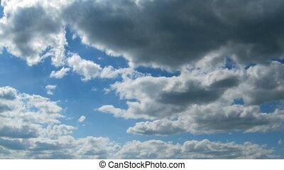 temps, en mouvement, défaillance, nuages, -, vous