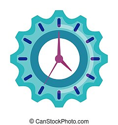 temps, engrenage, horloge