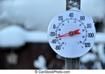 temps froid, thermomètre