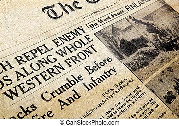 temps guerre, journal