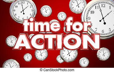 temps, illustration, clocks, acte, action, rappel, maintenant, 3d