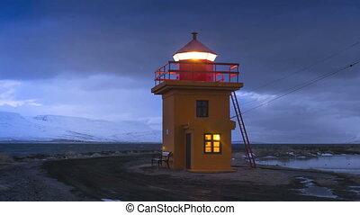 temps, orange, phare, défaillance