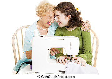 temps qualité, grand-maman