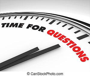 temps, -, questions, horloge