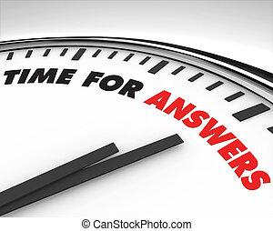 temps, -, réponses, horloge