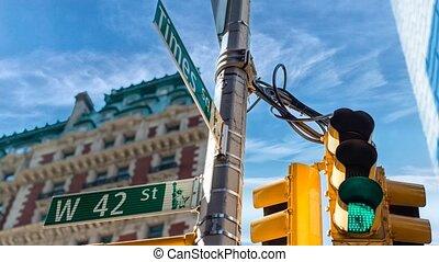 temps, signe, rue, carrée