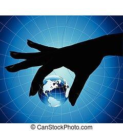 tenant main, la terre