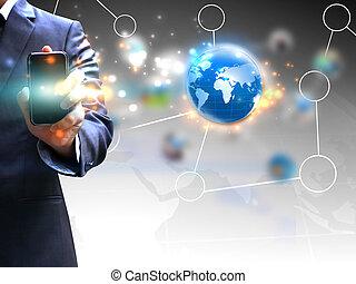 tenant main, social, média