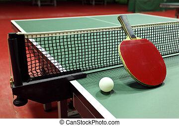 tennis, -, raquette, quipment, table, balle