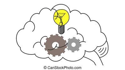 tension., droit, tension, solution., conclusion, work., cerveau