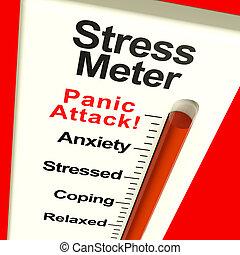tension, projection, panique, mètre, attaque, ou, souci