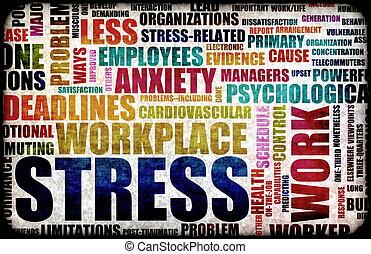 tension, travail