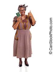 tenue femme, livre, mûrir, africaine, id, sud