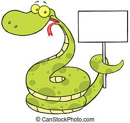 tenue, vide, haut, serpent, signe