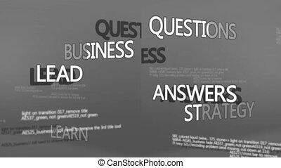 termes, business, montage, populaire