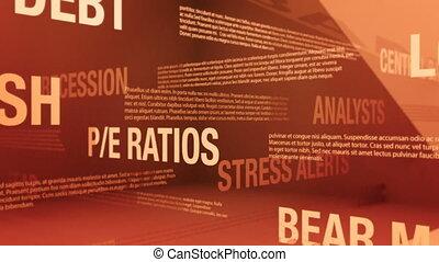 termes, ours, ou, boucle, marché, stockage, seamless, fond, fracas, apparenté