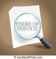 termes, réexaminer, service
