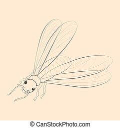termite, illustration.