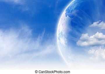 terre planète, ciel