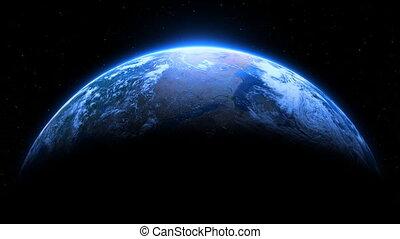 terre planète, dramatique, boucle, étoiles