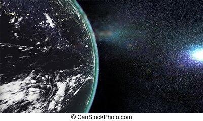 terre planète, exploser, apocalypse