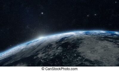 terre planète, -, levers de soleil, 05