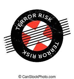 terreur, caoutchouc, risque, timbre
