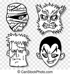 terreur, masque