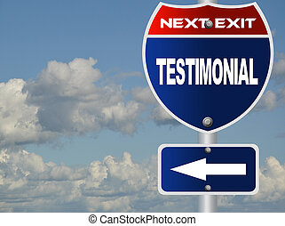 testimonial, panneaux signalisations