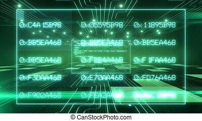 text., logiciel, code, vert, numérique