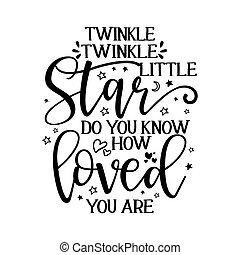 text., peu, scintillement, étoile