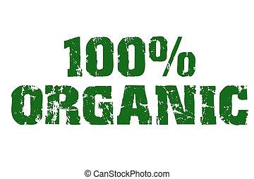 texte, 100%, organique