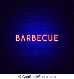 texte, barbecue, néon