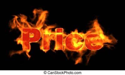texte, chaud, brûlé, coût, sale.