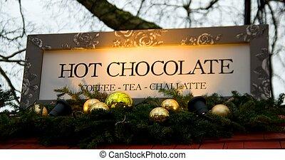 "texte, chocolate"", ""hot, signe"