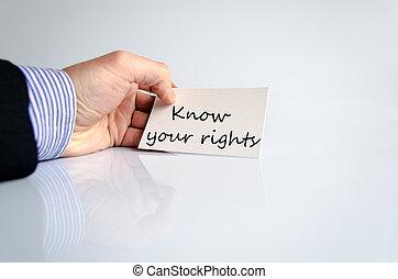 texte, concept, ton, savoir, droits