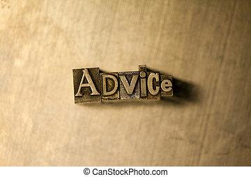 texte, conseil, -, letterpress, signe