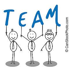 texte, groupe, équipe