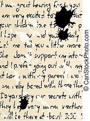 texte, manuscrit
