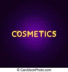 texte, néon, produits de beauté